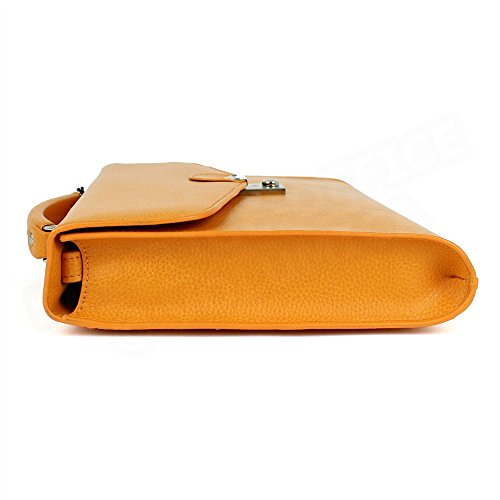 Serviette cuir Orange Beaubourg