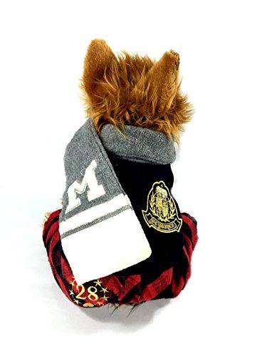British School Boys Dog Uniform with Scarf (Black, S) (Schoolboy Fancy Dress)