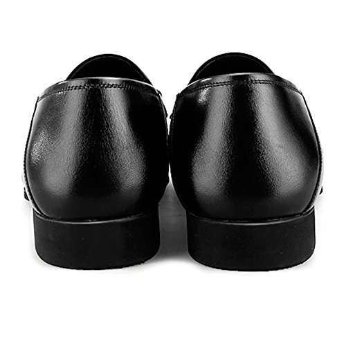 Business On Shoe Monk para Conducción MERRYHE Cuero Genuino Walking Deck For Mocasines Zapatillas Black Barcos De Shoe Formal Men Slip Vestido Planas De Yqw5E
