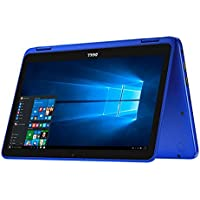 Dell Inspiron 11.6 Touchscreen 2 in 1 Laptop PC Intel Celeron N3060 Dual-Core Processor up to 2.48 GHz 2G Memory 32G Hard Drive Wifi USB 3.0 Bluetooth Windows 10 BLue