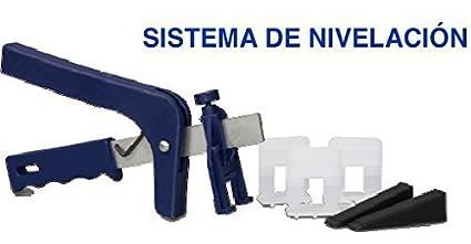 AS FAST sistema nivelación baldosas ceramica (kit 1 pinza, 300 ud.soportes y