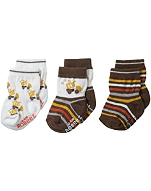 Baby-Boys Newborn 3 Pair Socks Busy Lofty