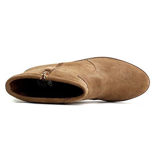 Chelsea de Leroy Alexis Mujer Botines Cuero Cremallera con Zapatos Caqui FnXHHxqYd