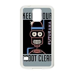 Bender Poster Futurama Vector Samsung Galaxy S5 Cell Phone Case White TPU Phone Case SV_034715