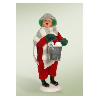 Byers Choice Snow Day Kid with Snowballs Figurine 2013 by Byers' Choice