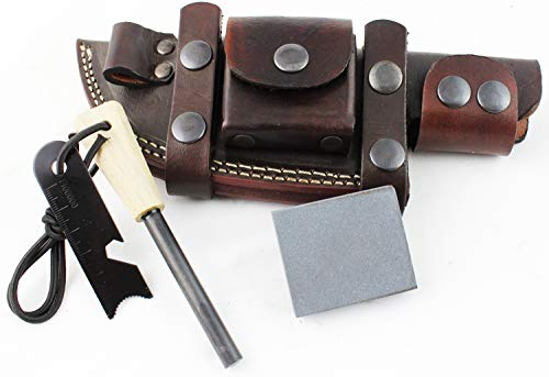 Best Schrade Ferro Rods - Moorhaus Handcrafted Leather Knife Sheath for