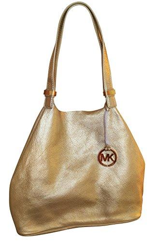 75735083c1f1 Michael Kors Colgate Genuine Leather Large Grab Bag Pale Gold - Buy Online  in UAE.