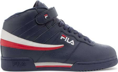 Fila Men's F-13V LEA/SYN Fashion Sneaker, Fila Navy/White/Fila Red, 13
