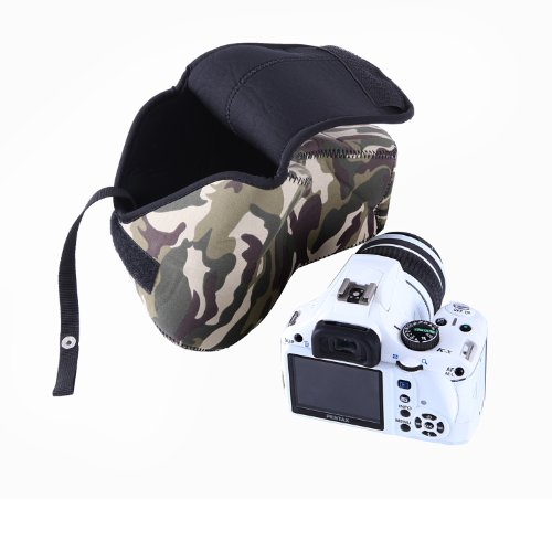 Movo Photo CB70 Neoprene Soft Pouch Camera Case for DSLR Cameras (Camouflage)