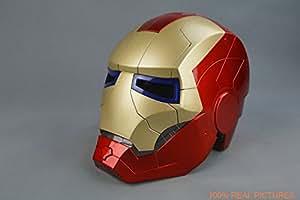 Amazing Tony Stark Iron Man Motorcycle Helmet Mask Mark 7 Cosplay Mask with LED Light