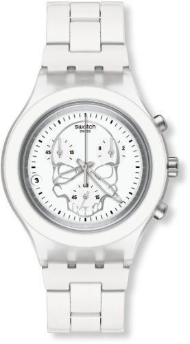 Swatch Full-Blooded White Skull Unisex Watch - SVCW4000AG