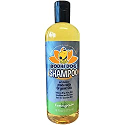 NEW Soothing Organic Dog Shampoo | All Natural Hypoallergenic Pet Shampoo Dogs & Cats | Certified to USDA Food Standards | 100% Non-Toxic | Made in USA - 1 Bottle 16oz (473ml)