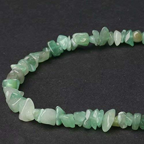 Mughal Gems /& Jewellery Chips Aventurine 3-8mm Beads for Bracelets Necklaces Threading Green Natural Stone Chips Beads Approx 80cm Strands