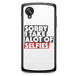 Selfie Nexus 5 Transparent Edge Case - I take a lot of selfies