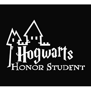 Hogwarts honor student decal vinyl stickercars trucks walls laptopwhite6 5 x