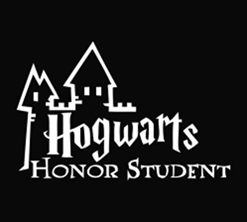 Hogwarts Honor Student Decal Vinyl Sticker|Cars Trucks Walls Laptop|WHITE|6.5 X 3 In|KCD414