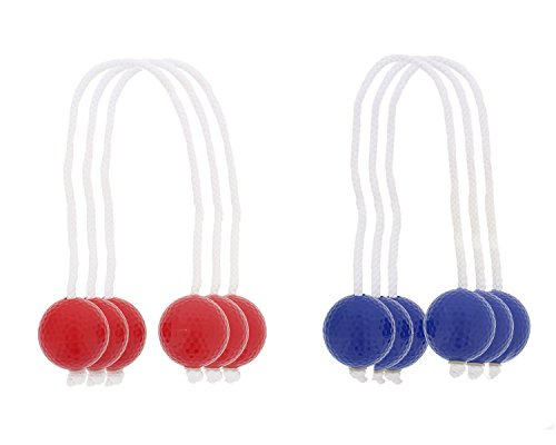 Get Out! Ladder Golf Replacement Bola Strands 6 Pack, 3 Blue 3 Red, Ladder Ball for Backyard Games (Includes 6 Bolas) by Get Out!