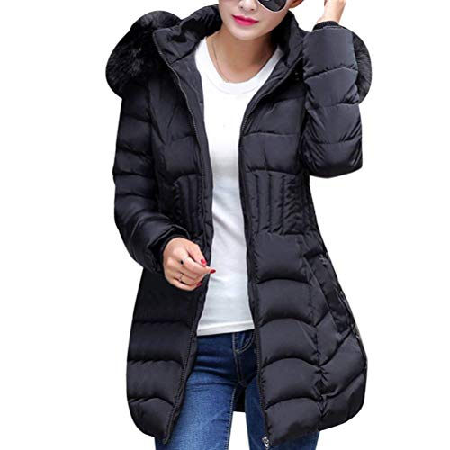 Daily Winter Coat Casual Cappuccio Crossover Clothes Oversize Sleeve Nero Pelliccia Saoye Con Slim Solido Colore Fashion Trapuntato Outdoor Long In Women Parka Fit Warm Piumino 8nqxTC1w