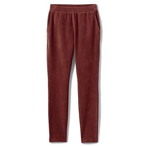 Lands' End Women's Plus Size Sport Knit Corduroy Leggings, 2X, Dark Rust