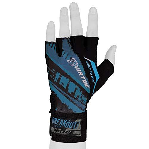Virtue Mesh Breakout Gloves - Half Finger Paintball Gloves - Graphic Blue (SM/MD/LG)