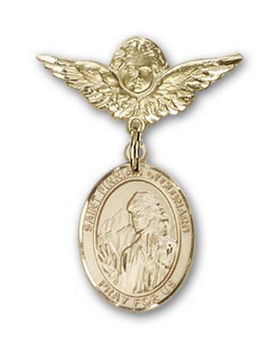 Icecarats Or Bijoux De Créateurs Rempli R. Finnian De La Broche Badge Clonard Charme D'Ange 1 X 3/4