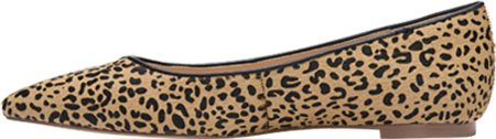 Dr. Scholls Original Collection Womens Tenacious Pointed Toe Flat Tan/Black Speckled Pony Rg74e