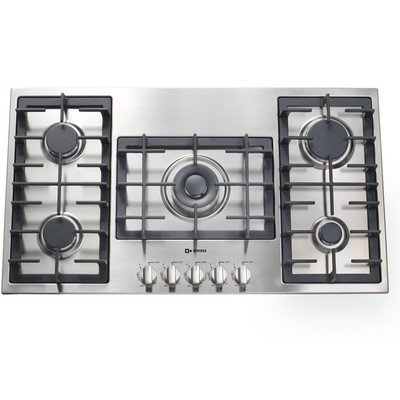 """36"""" - Designer Series Gas Cooktop with 5 Burners"""