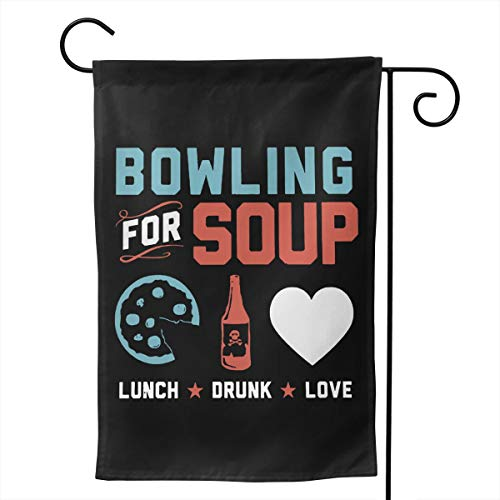 Desdemona Sakura Bowling for Soup Premium Seasonal Garden Flags Outdoor Decorative Flags for Garden Yard Lawn 12.5 X 18/28 X 40 Inch