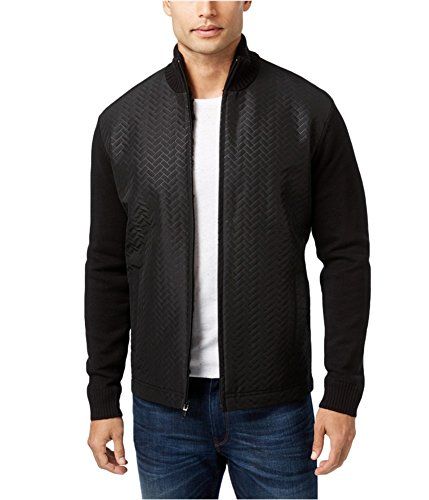 Alfani Mens Faux Fur Quilted Jacket deepblack M Alfani Jacket