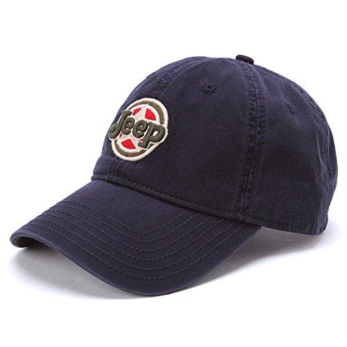 Jeep Unisex Adjustable Horizon Classic Cap (Blue, Free Size) (Jeep Hat)