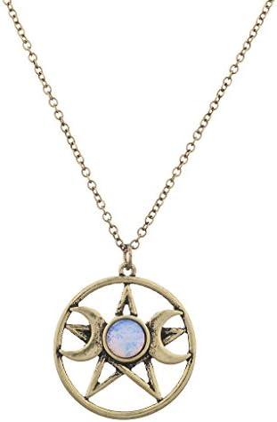 Lux Accessories Crescent Pentagram Necklace product image