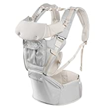 Child & Baby Carrier, Perfect Backpack Alternative for Hiking with 5 Carrying Positions and Ergonomic Design with Hip Protection for Toddler or Infant (grey)
