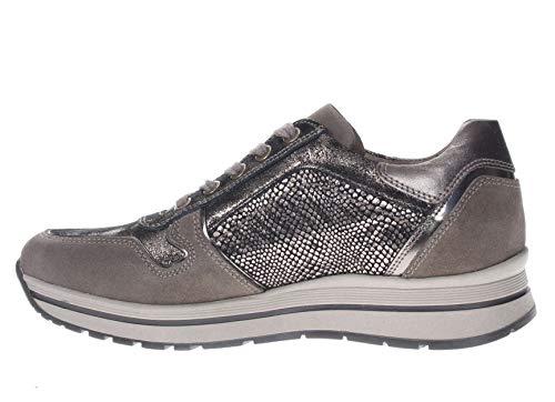In Sneaker T Giardini moro Nero Pelle Donna 70qE5qwH