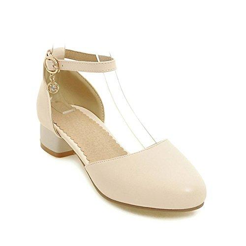 Verano se heelsWomen Peep Sandalias BAJIAN Zapatos Sandalias Alto Chanclas Zapatos Toe LI Bajos oras HEzw1qW6
