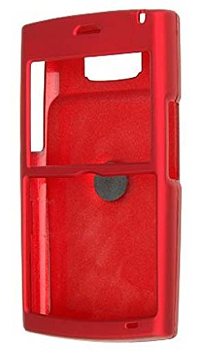 NEW RED RUBBERIZED HARD CASE COVER WITH BELT CLIP FOR SAMSUNG BLACKJACK II - I617 Snap