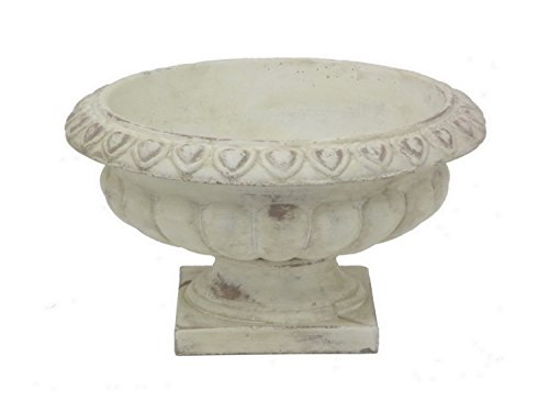 - Terracotta Planters Three Hands 32171 Footed Urn 11 X 6.25 X 11 Inches White