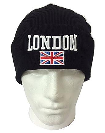 Uk Seller Unisex Union Jack Uk Flag Knitted Ski Winter Beanie Hat