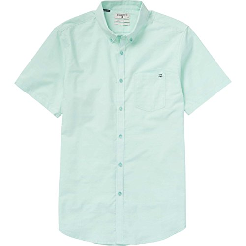 (Billabong Men's All Day Chambray Woven Shirts, Mint, Small)