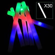 "30pcs 19""LED Foam Lightc Sticks, Multicolor Light Up Flashing Foam Batons, Color Changing Cheer Decorative Glow Stick for Party Supplies, Festivals, Raves, Birthdays, Children Toy MaiTian"