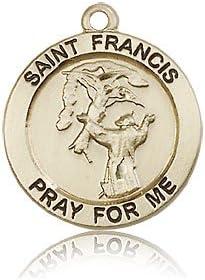 14ktゴールド聖フランシスメダル