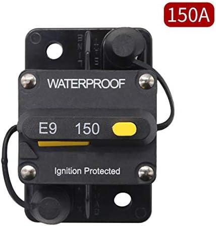 LYDZ-Automotive Circuit Breaker 110A / 120A / 130A / 140A / 150A Manual Reset Mit Umsteller Schalter Platz Circuit Breaker Self-Recovery-Sicherungshalter Autozubehör (Color : 140A)