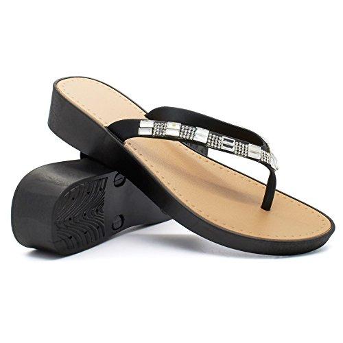 mujer abierto talón London negro Footwear qF6pn7p