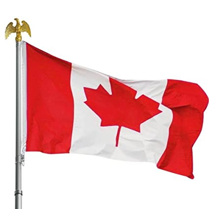 amazon com pride red and white maple leaf canadian flag large 3 x5