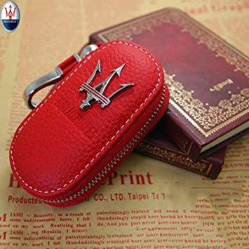Uniqus Arrival Men's Genuine Genuine Leather Bag Car Key Case Cover Wallets Fashion Women Housekeeper Holders Carteira for Maserati 1