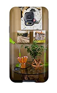 Gary L. Shore's Shop 5978824K89737309 Top Quality Case Cover For Galaxy S5 Case With Nice Twin Beds And Glass-topped Nightstand With Green Lamps Appearance