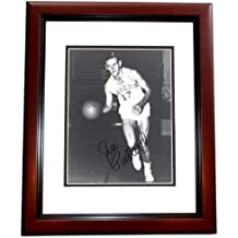 Jim Pollard Signed - Autographed Minneapolis Lakers - Los Angeles Lakers 8x10 inch Photo - MAHOGANY CUSTOM FRAME - Deceased 1993 Hall of Famer - Guaranteed to pass PSA or JSA
