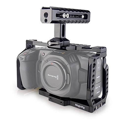 MAGICRIG BMPCC 4K Camera Cage with NATO Handle for Blackmagic Design Pocket Cinema Camera 4K