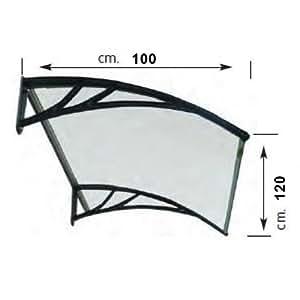 Marquesina de resina transparente 100x 120cm