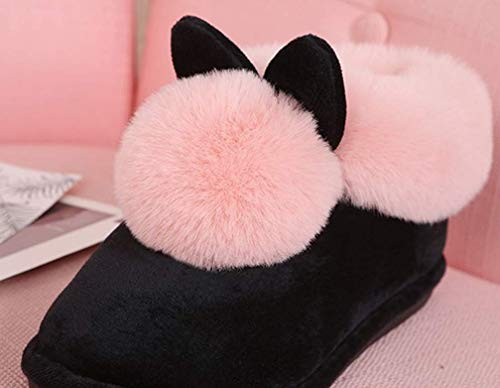 Indoor Fuzzy Lined Shoes Pink Outdoor Womens Slippers Fur Warm Winter Slipper q4nCxAt