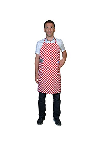 Apron Unisex Chef Waiter Waitress Restaurant Bistro Cafe Craftsmen Butchers Artist Apron Plain Bib Apron with Two Front Pockets (32